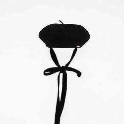 strap beret - black