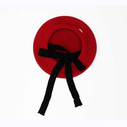 strap beret - red