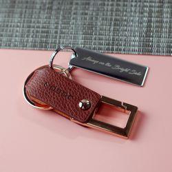 JOBON ZB03 이니셜각인 가죽폴딩 열쇠고리 키홀더