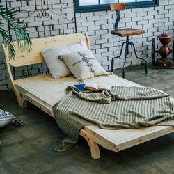 자라 원목 침대