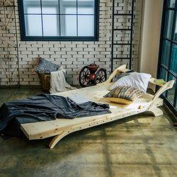 핀란드 원목 윙보드 침대