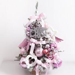 핑크날개스노우트리 60cm -P(크리스마스트리)