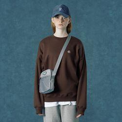 [앤커버] n-symbol sweatshirt-brown