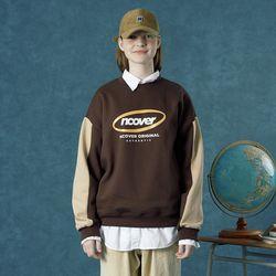 [앤커버] Round logo sweat shirt-brown