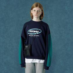 [앤커버] Round logo sweat shirt-navy
