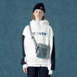 [앤커버] Color block hoodie-white