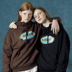 [앤커버] Color logo hoodie-black