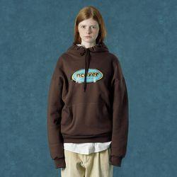 [앤커버] Color logo hoodie-brown