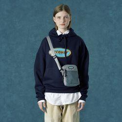 [앤커버] Color logo hoodie-navy