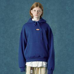 [앤커버] Rubber logo hoodie-blue