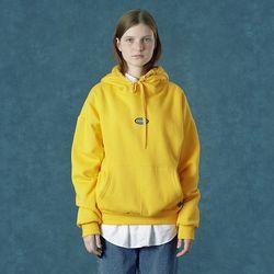 [앤커버] Rubber logo hoodie-yellow