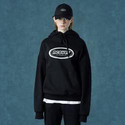 [앤커버] Signature logo hoodie-black