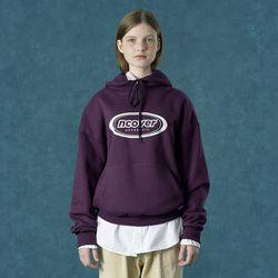 [앤커버] Signature logo hoodie-purple