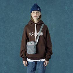 [앤커버] String point hoodie-brown
