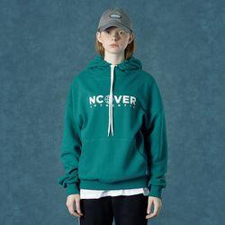 [앤커버] String point hoodie-emerald