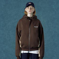 [앤커버] Color block hoodie zipup-brown