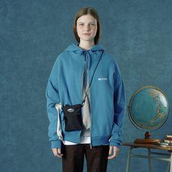 [앤커버] Color block hoodie zipup-light blue