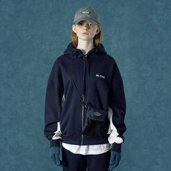 [앤커버] Color block hoodie zipup-navy