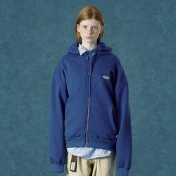 [앤커버] Rubber logo hoodie zipup-blue
