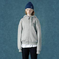 [앤커버 Rubber logo hoodie zipup-gray