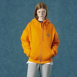 [앤커버] Rubber logo hoodie zipup-orange