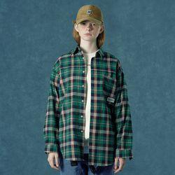 [앤커버] Barcode shirt-green