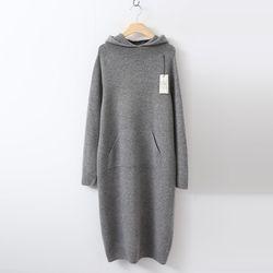 Hoega 캐시미어 Wool Hood Knit Dress