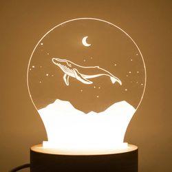 고래의꿈 무드등 LED액자 수면등 취침등 수유등
