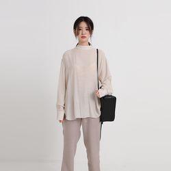 zoe half neck blouse (3colors)