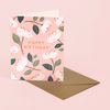 MAGNOLIA BIRTHDAY CARD BLUSH