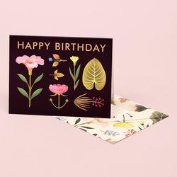LUSH BOTANY BIRTHDAY CARD – BLACK