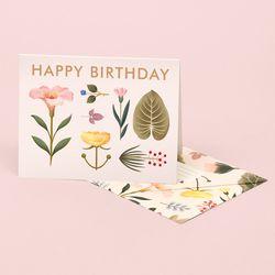 LUSH BOTANY BIRTHDAY CARD – CREAM