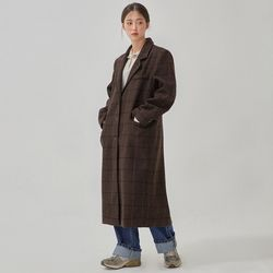 premium check long coat