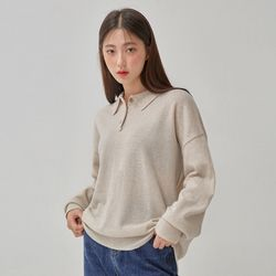 avant collar wool knit