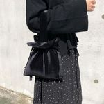 스트랩토트백 Strap tote bag (VELVET-BLACK)