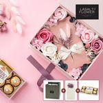 프리저브드 초콜릿 기프트 플라워박스 핑크+쇼핑백+메세지카드
