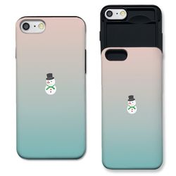 [아이폰8] 눈사람 민트로즈 슬라이더 케이스