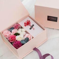 목화앤카네이션 플라워 용돈박스M 핑크