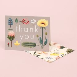 SPRING BLOOM THANK YOU CARD – GREY