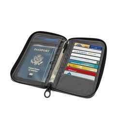 passport wallet (Heather Gray)