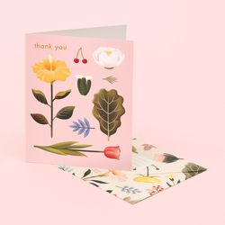 PASTEL BLOSSOMS THANK YOU CARD – BLUSH
