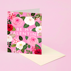 PINK ROSE VALENTINE DAY CARD