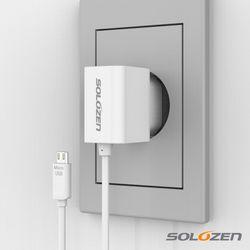 솔로젠 일체형 스마트폰 충전기 (마이크로 5핀)