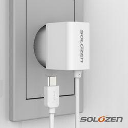 솔로젠 일체형 스마트폰 충전기 (C타입)