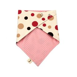 하라로이 양면 스카프빕 핑크도트