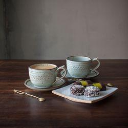 코벤트 민트 둥근 커피잔 1p