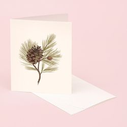 BOTANICAL SCENTED CARD PINE
