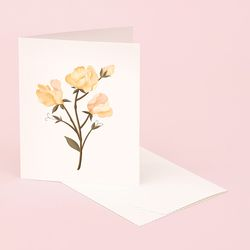 BOTANICAL SCENTED CARD SWEET PEA