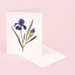 BOTANICAL SCENTED CARD IRIS