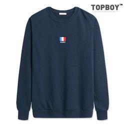 프랑스 자수 기모 맨투맨 티셔츠 (NS208)
